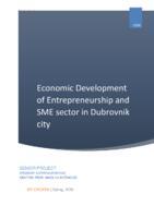 prikaz prve stranice dokumenta ECONOMIC DEVELOPMENT OF ENTREPRENEURSHIP I SME SECTOR IN DUBROVNIK 1