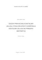 prikaz prve stranice dokumenta IZAZOVI PRIHVAĆANJA DIGITALNIH USLUGA I POSLOVNI EFEKTI KORIŠTENJA DIGITALNIH USLUGA NA PRIMJERU OBRTNIŠTVA