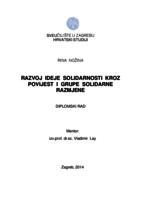 prikaz prve stranice dokumenta Razvoj ideje solidarnosti kroz povijest i grupe solidarne razmjene