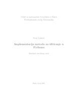 prikaz prve stranice dokumenta Implementacija metoda za šifriranje u Pythonu
