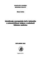 prikaz prve stranice dokumenta Istraživanje neuropatske boli u bolesnika s osteoartritisom koljena u ambulanti fizikalne medicine