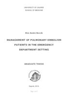prikaz prve stranice dokumenta Management of pulmonary embolism patients in the emergency department setting