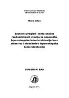 prikaz prve stranice dokumenta Sustavni pregled i meta-analiza randomiziranih studija za usporedbu laparoskopske kolecistektomije kroz jedan rez i standardne laparoskopske kolecistektomije
