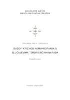 prikaz prve stranice dokumenta Izazovi kriznog komuniciranja u slučajevima terorističkih napada