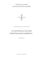 prikaz prve stranice dokumenta CE certifikacija čeličnih konstrukcijskih elemenata