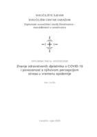 prikaz prve stranice dokumenta Znanje zdravstvenih djelatnika o COVID-19 i povezanost s njihovom percepcijom stresa u vremenu epidemije
