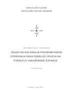 prikaz prve stranice dokumenta Odaziv na Nacionalni program ranog otkrivanja raka debelog crijeva na području Varaždinske županije