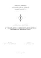 prikaz prve stranice dokumenta Optičko mjerenje geometrije elastično deformabilnih proizvoda