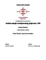 prikaz prve stranice dokumenta Analiza stanja kontejnerskog prijevoza u Republici Hrvatskoj