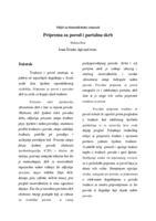 prikaz prve stranice dokumenta Priprema za porod i partalna skrb