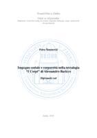 """prikaz prve stranice dokumenta Impegno sociale e corporeità nella tetralogia """"I Corpi"""" di Alessandro Baricco"""