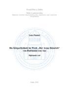 """prikaz prve stranice dokumenta Die Körperlichkeit im Werk """"Der Arme Heinrich"""" von Hartmann von Aue"""