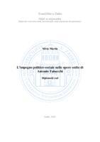 prikaz prve stranice dokumenta L'impegno politico-sociale nelle opere scelte di Antonio Tabucchi
