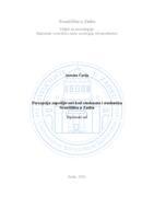 prikaz prve stranice dokumenta Percepcija zapošljivosti kod studenata i studentica Sveučilišta u Zadru