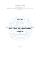 "prikaz prve stranice dokumenta Das Gesellschaftsbild in Theodor Fontanes ""Frau Jenny Treibel"" und ""Die Poggenpuhls"""