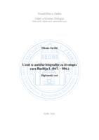 prikaz prve stranice dokumenta Uzori iz antičke biografije za životopis cara Bazilija I. (867. - 886.)