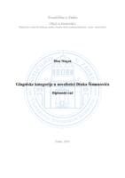 prikaz prve stranice dokumenta Glagolske kategorije u novelistici Dinka Šimunovića