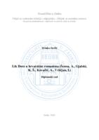 prikaz prve stranice dokumenta Lik Dore u hrvatskim romanima (Šenoa, A., Gjalski, K. Š., Kovačić, A., Vrkljan, I.)